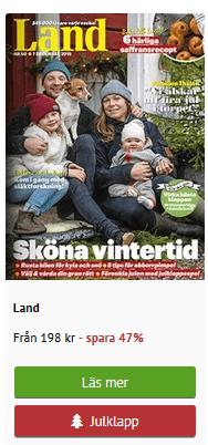 tidningen land