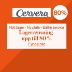 Lagerrensning upp till 80% rabatt på Cervera