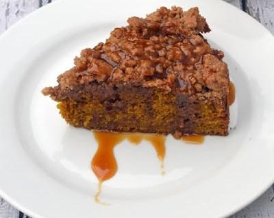 Pumpkin Coffee Cake with Maple Caramel Sauce Recipe