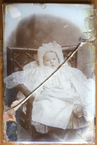 Damaged photo