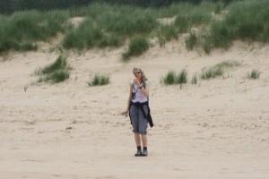 Marg on Holkham Beach, Norfolk