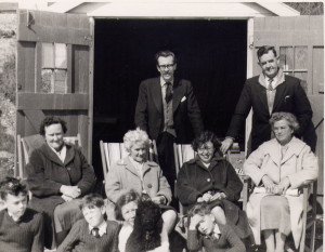 Barton on Sea Beach Hut Easter 1960