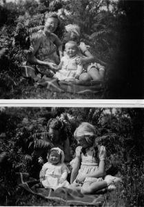 Lorna, Jan and Chris July 1950