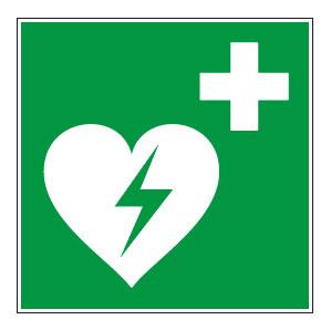 panneaux signalisation santé sécurité travail Défibrillateur automatique externe pour le coeur