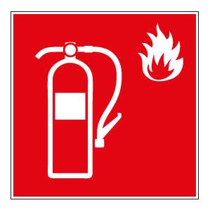 Santé et sécurité incendie autocollant signe extincteur 2 autocollant rouge Équipements professionnels