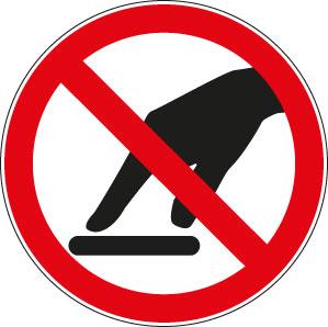 panneaux signalisation santé sécurité travail Interdiction de toucher