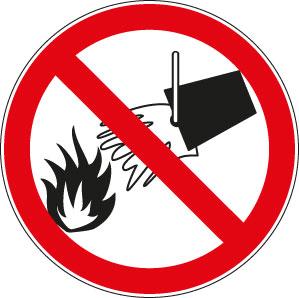 panneaux signalisation santé sécurité travail Interdiction éteindre avec de l'eau