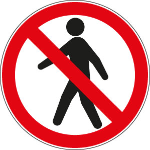 panneaux signalisation santé sécurité travail Interdit aux piétons