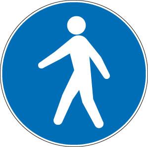 panneaux signalisation santé sécurité travail Passage obligatoire pour piétons