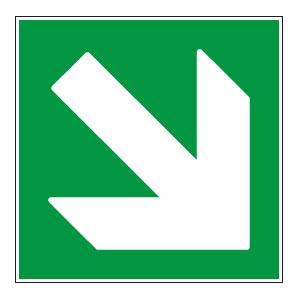 panneaux signalisation santé sécurité travail Directions à suivre : bas droite vert