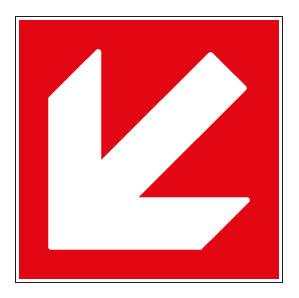 panneaux signalisation santé sécurité travail Directions à suivre : bas gauche