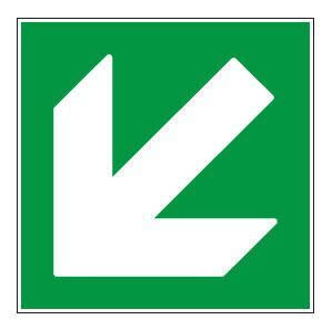 panneaux signalisation santé sécurité travail Directions à suivre : bas gauche vert