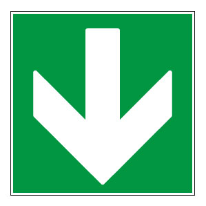 panneaux signalisation santé sécurité travail Directions à suivre : bas vert