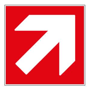 panneaux signalisation santé sécurité travail Directions à suivre : haut droite