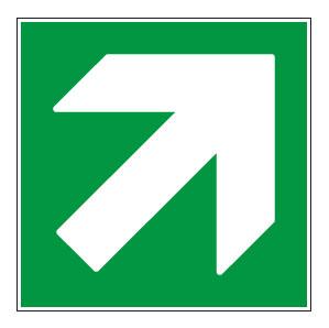 panneaux signalisation santé sécurité travail Directions à suivre : haut droite vert