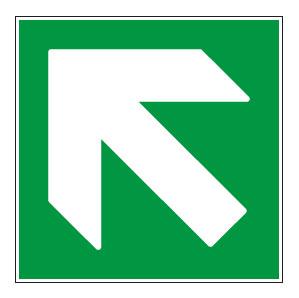 panneaux signalisation santé sécurité travail Directions à suivre : haut gauche vert