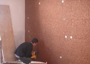 Stratigrafia Cappotto per isolamento termico interno in pannelli sughero biondo su muratura