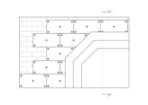 Soluzione tecnica Cappotto per isolamento termico interno in pannelli sughero biondo su muratura