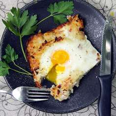 Best Mother's Day Brunch Recipes: Swiss Rösti: Shredded Potato Casserole with Ham and Eggs   Panning The Globe