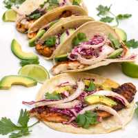 Blackened Fish Tacos with Cilantro Lime  Slaw