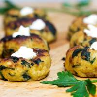 Mini Spinach Potato Knish Appetizer