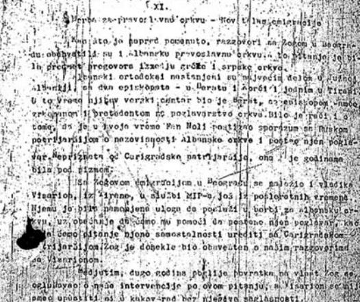 raport sekret serb
