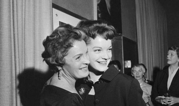Magda Schneider dhe vajza e saj Romi, të cilat kanë qenë të dyja aktore