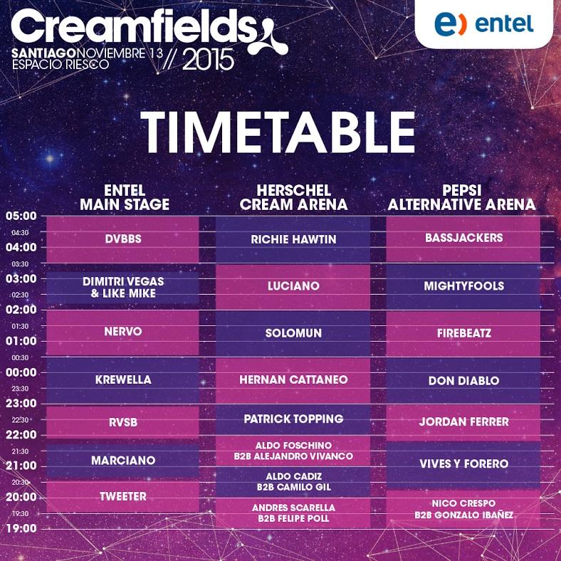 lineup creamfields chile 2015