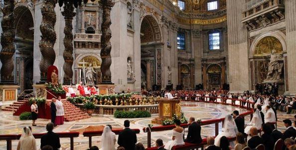 papa sposi matrimonio vaticano san pietro