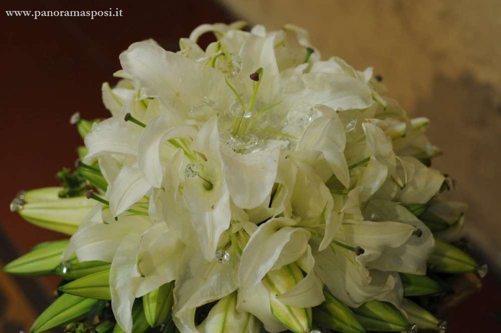 bouquet per matrimonio con gemme