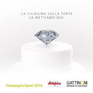 Vinci un diamante, campagna Sposi 2016 Gattinoni