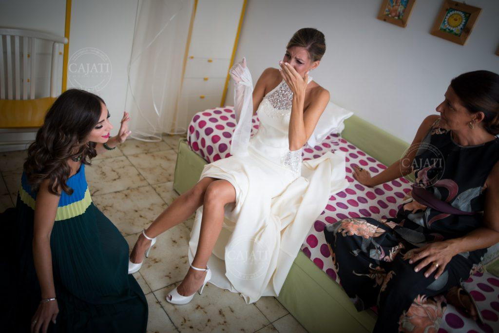 sposa emozionata Luca Cajati