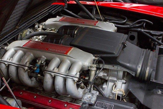 Ferrari testarossa, motore