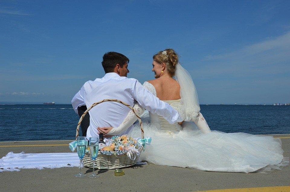 sposi al mare