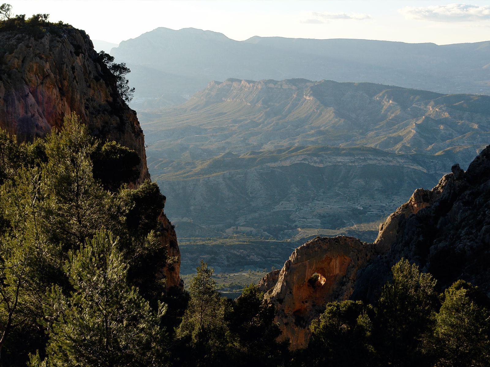 Sierra del Mitjorn desde el Cabeço d´Or