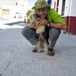 Juan y Birra nuestra mascota. Nos acompaño durante toda la ruta