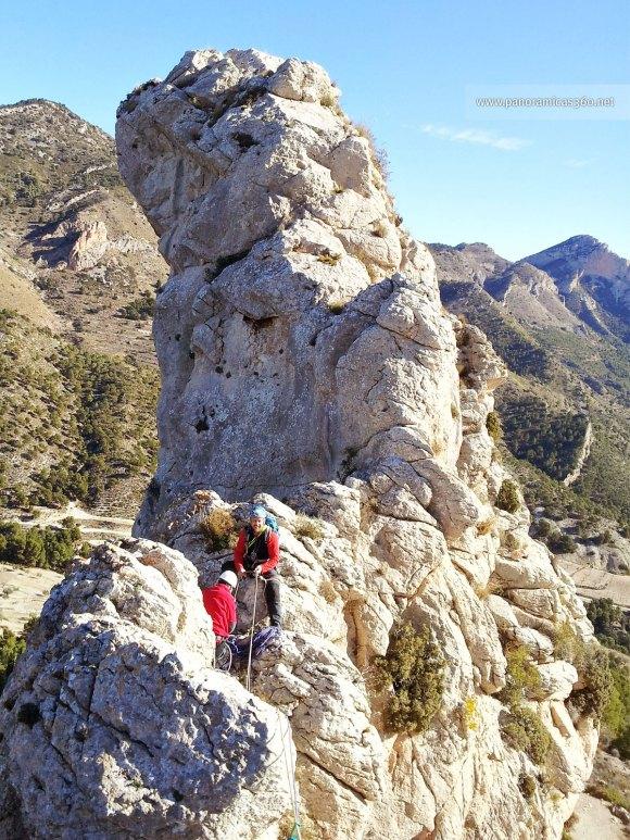 Alberto y Juan en la cresta