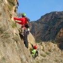 Escalada con susto en el Pequeño Cervino (Orihuela). Vía Falsa alarma 170 m, V