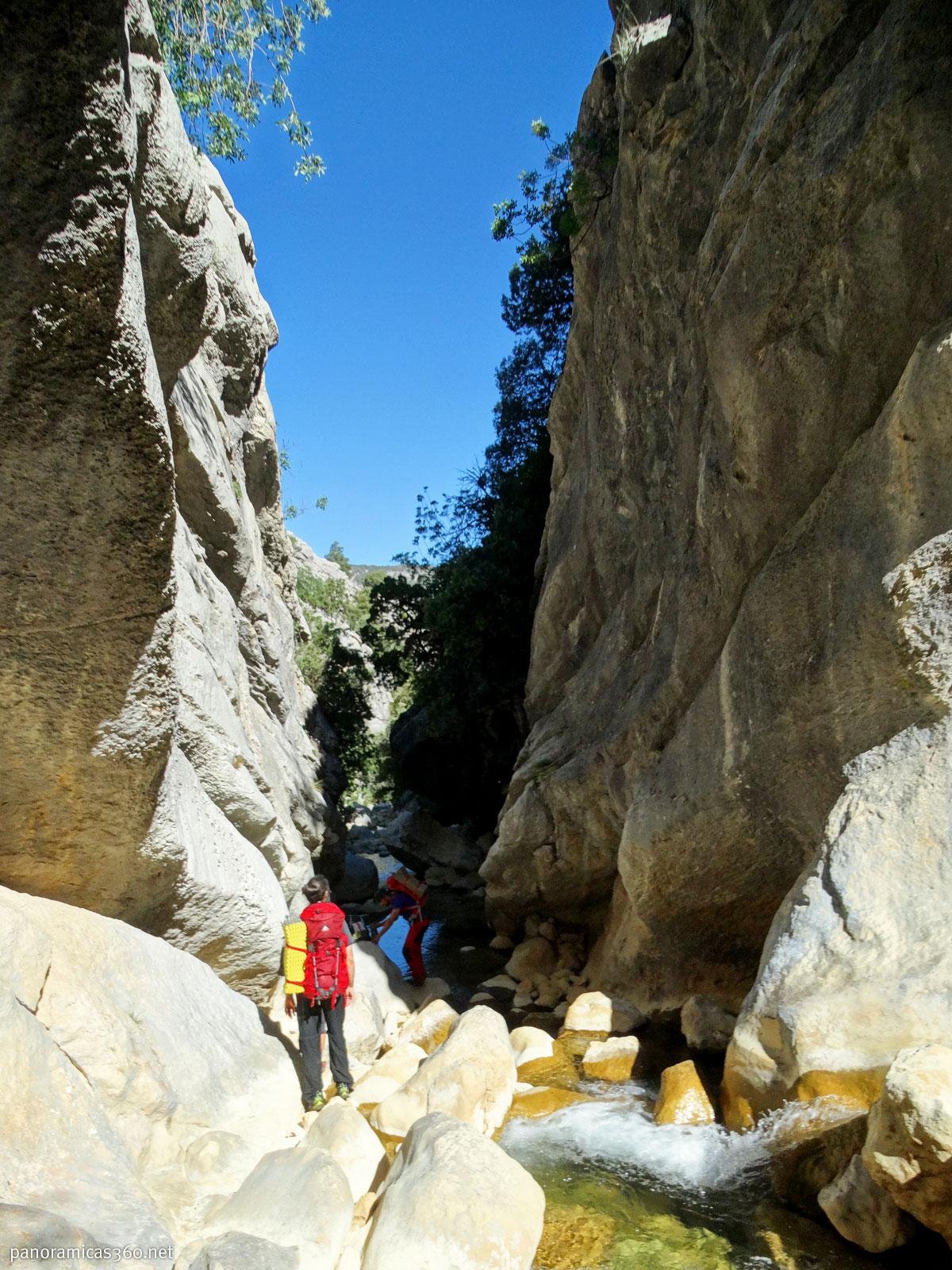 En el arroyo de los Tornillos de Gualay
