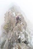 Óscar escalando la cresta Bardamina