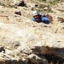 Escalada en la Pared Negra de Orihuela. Vía Teo, 140m 6a+