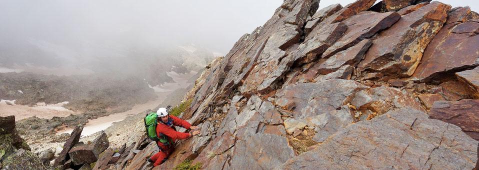 Arista de la Ruptura Democrática al pico Juego de Bolos en Sierra Nevada