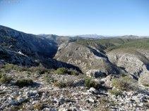 Barranco de Malafí. Benicadell y La Safor al fondo