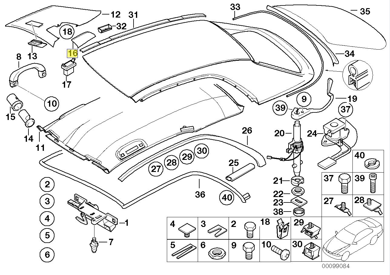 Bmw E46 Hardtop Left Interior Trim Cover Flap