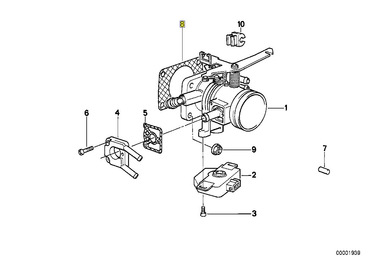 Bmw M20 B20 B27 Moteur Carburateur Joint Etancheite
