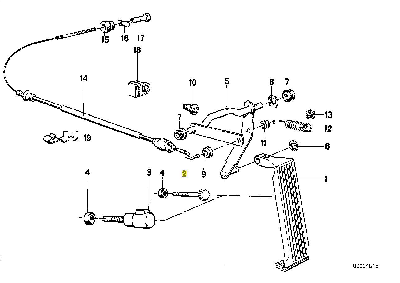 Bmw Throttle Gas Accelerator Pedal Stop Bolt