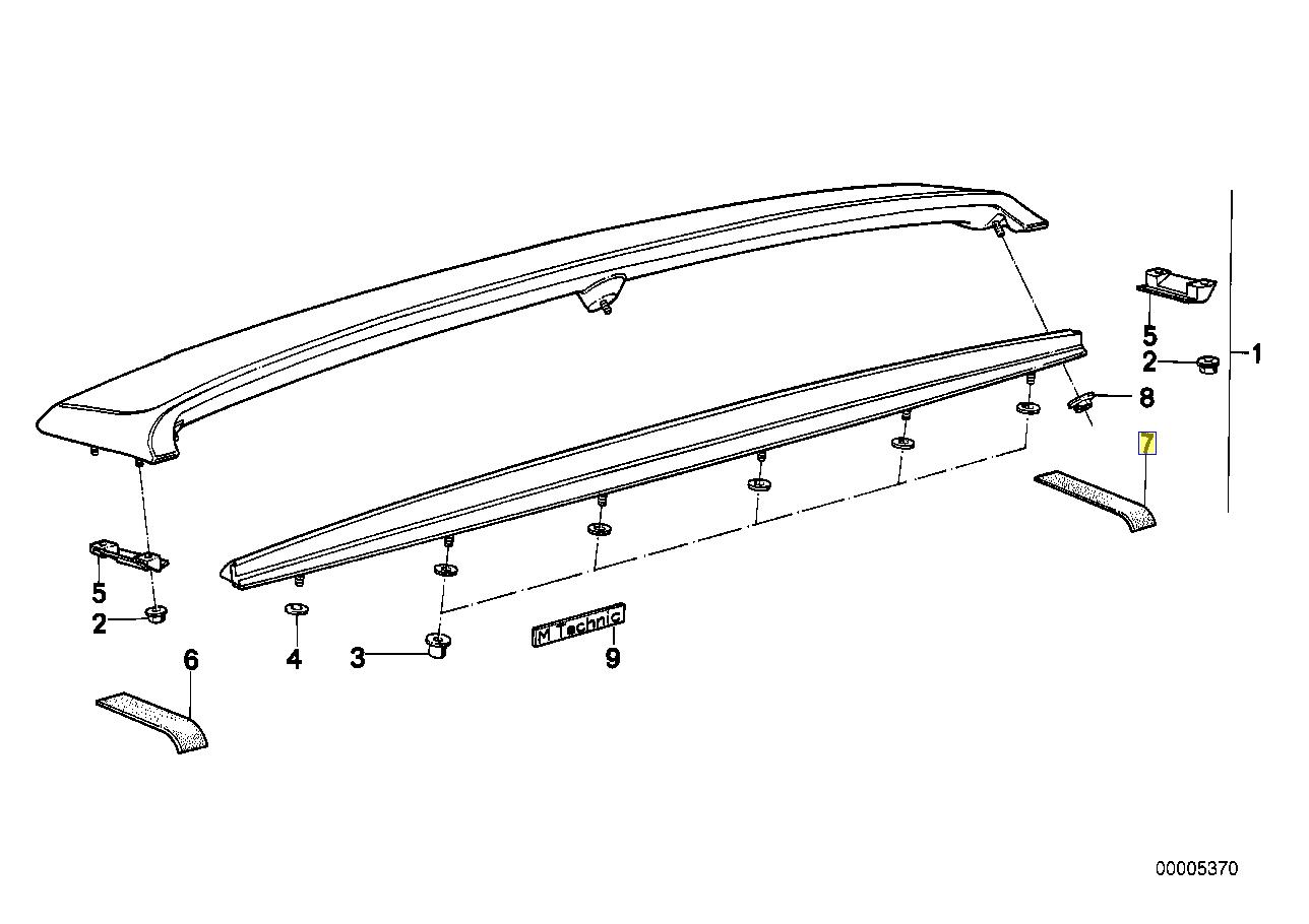 Bmw E30 M Tech Boot Spoiler Isolator Seal Gasket