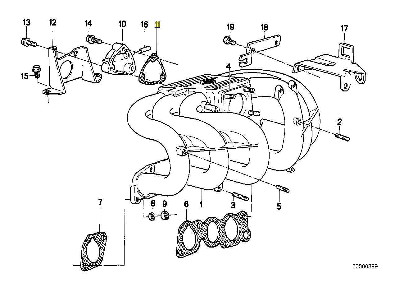Bmw M20 Engine Intake Manifold Port Seal Gasket