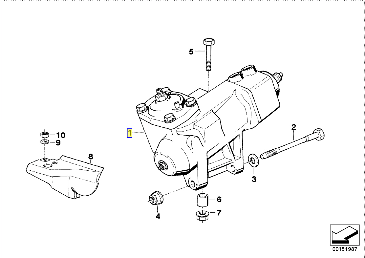 Bmw Series 5 E34 Zf Rhd Power Steering Gear Box