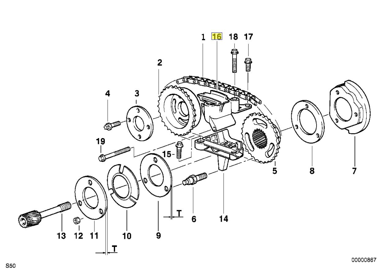 Bmw M50 M52 M54 Engine Chain Tensioner Housing